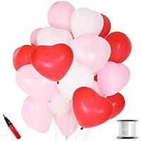 JINSELF 【あんしん極厚風船】 ハート 100個 (大)32cm 誕生日 結婚式 パーティー バレンタイン 飾り 装飾 空気入れ