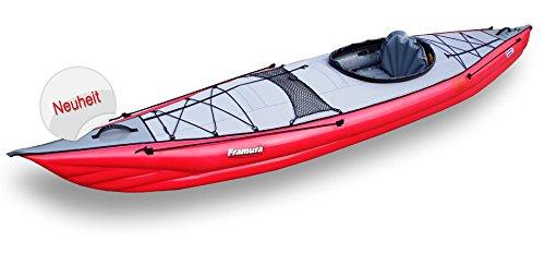 Gumotex Framura Schlauchboot Luftkajak Wanderkajak Einerkajak Touring Faltboot, Farbe:Rot