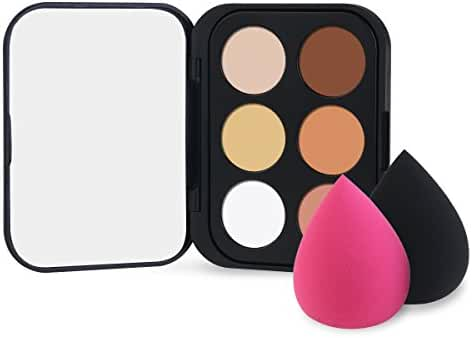 RUIMIO Contour Kit Portable Cream Contour Palette Mini-Size 6 Colors