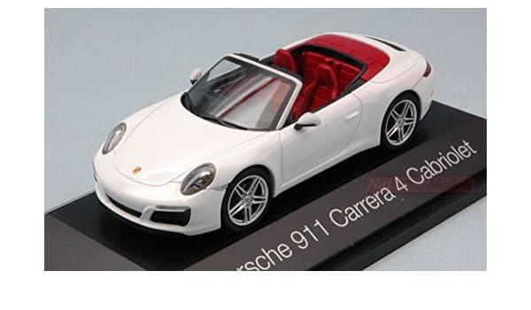 HERPA HP7111 PORSCHE 911 CARRERA 4 CABRIOLET WHITE 1:43 MODELLINO DIE CAST MODEL: Amazon.es: Juguetes y juegos
