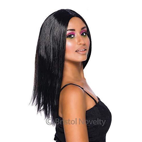 Bristol Novelty BW101 Long Wig, Black, One Size -