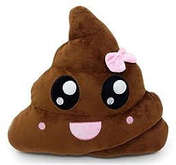 Poop Emoji Pillow Emoticon Stuffed Plush Toy Doll Smiley Cat Heart Eyes Alien Devil Kiss Face (PINKPOOP)