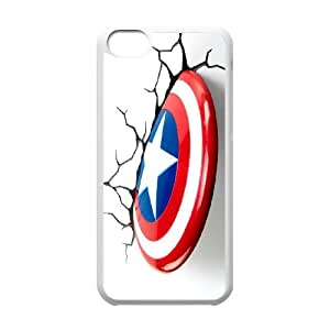 Lovely Captain America Phone Case For iPhone 5C M55763