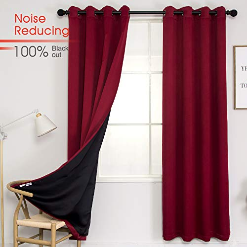 Thermal 100% Blackout Grommet Curtain for Room
