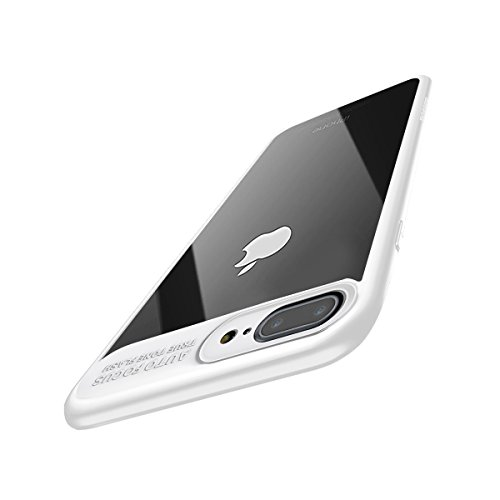 iPhone 8 Plus Case, iPhone 7 Plus Case, Baseus Tough PC and Flexible TPU Ultra Slim Clear Case Premium Hybrid Protective Cover for Apple iPhone 8 / 7 Plus (White)