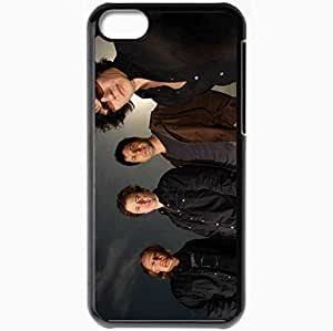 Personalized iPhone 5C Cell phone Case/Cover Skin Big Head Todd The Monsters Band Look Sky Black