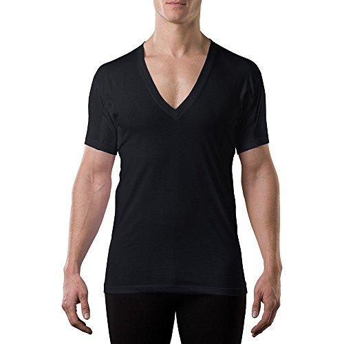 Sweatproof Undershirt for Men w/ Underarm Sweat Pads (Original Fit, Deep V-Neck) ()