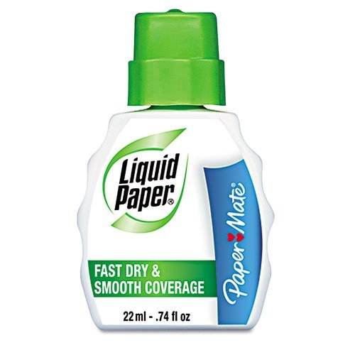 Fast Dry Correction Fluid, 22 ml Bottle, White, 1/Dozen by Paper Mate by Paper Mate (Image #1)