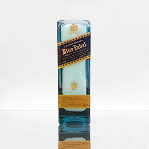 JOHNNIE WALKER Blue Label Whisky Soy Candle I Recycled- Pomegranate Scented (Johnnie Walker Whisky Blue Label)