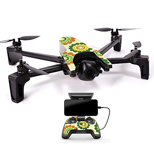 MightySkins Skin for Parrot Anafi Drone - Hippie Flowers | Protective, Durable, and Unique Vinyl Decal wrap Cover | Easy to Apply, Remove, and Change Styles | Made in The USA