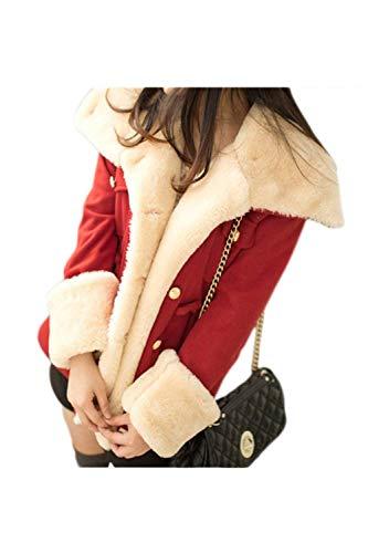 Longues Manches Warm Revers Femme Coat FawPqpzA