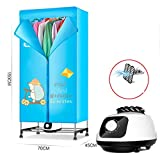 Drying Racks ZXW@ Portable Folding Cloth Dryer 900W Electric Large Capacity Fast Drying Multifunctional Wardrobe with Heater, All Accessories (Size : Stainless Steel)