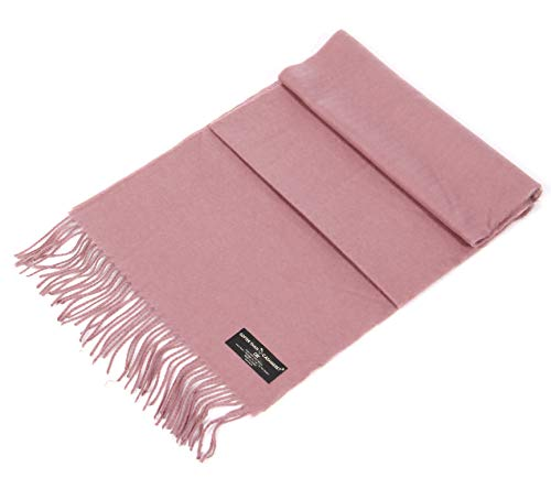 Cashmere Feel Scarf, Wrap Shawl Scarves, for Men & Women, by SERENITA, Mauve