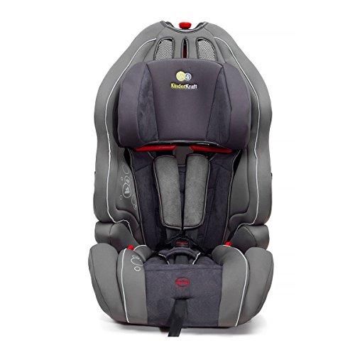 KinderKraft KKSMRTUGRY0000 Kinderautositz 9 bis 36 kg, Gruppe 1, 2, 3, grau