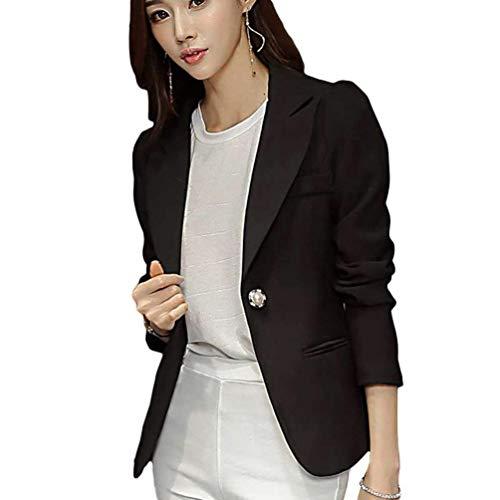 Lunga Primaverile Moda Cappotto Colore Glamorous Casual Business Tailleur Blazer Slim Giacche Manica Puro Fit Autunno Con Ufficio Button Eleganti Giacca Da Donna Tasche Schwarz Semplice q5w8OUxU