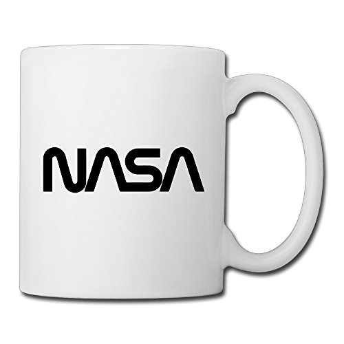 Christina NASA Logo Ceramic Coffee Mug Tea Cup White (1 Liter Gatorade Water Bottle)