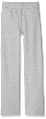 Hanes Girls' Big ComfortSoft EcoSmart Open Bottom Fleece Sweatpant , Light Steel, X Small