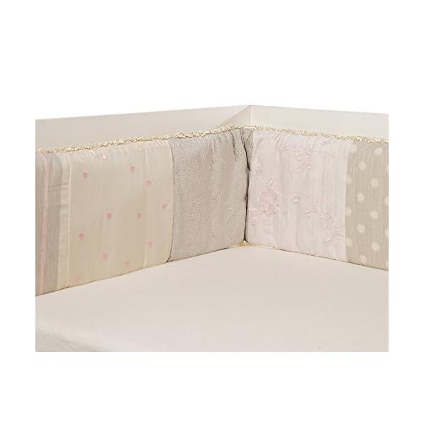 Glenna Jean Contessa Crib Bumper, Pink/Cream