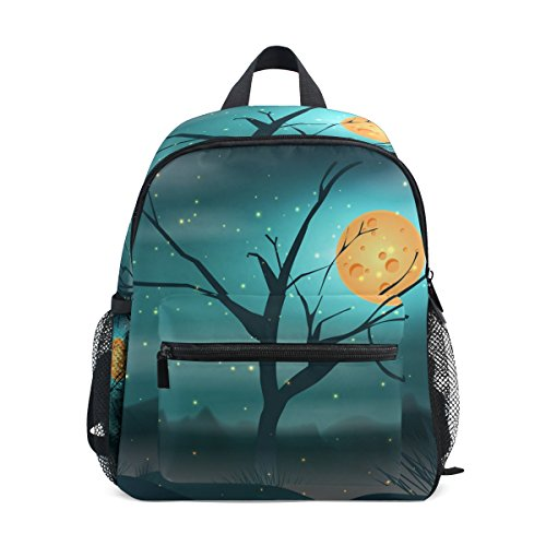 - imobaby Beautiful Fireworm Light With Moon Landscape Unisex Outdoor Daypacks Bags 2th 3th 4th Grade School Backpack for Kids Boys Girls