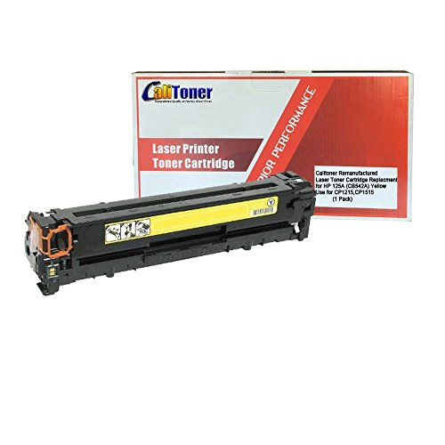 Calitoner Remanufactured Toner Cartridge Replacement for HP 125A (CB542A) (Yellow) (Remanufactured Cb542a Toner Yellow)