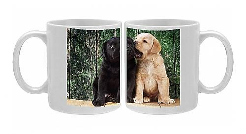 photo-mug-of-black-a-yellow-labrador-dog-puppies-by-barn-door