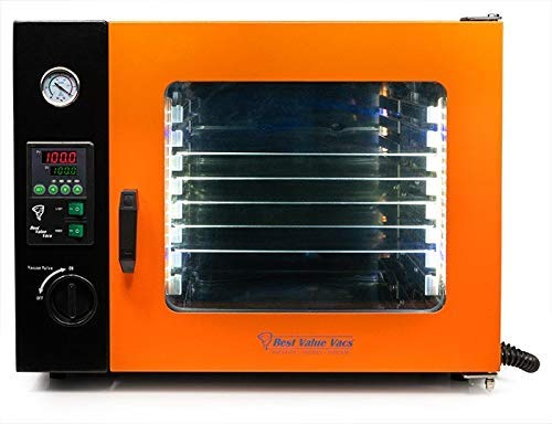 Best Value Vacs- 1.9CF ECO Vacuum and Degassing Oven - 4 Wall Heating, LED Display, LED's - 5 Shelves Standard …