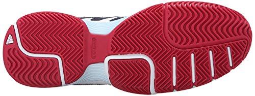 Adidas Performance Women's Barricade Court 2 W Tennis Shoe, White/Collegiate Navy/Ice Blue Fabric, 9.5 M US
