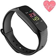 Fitness Tracker, Waterproof Activity Tracker Smart Bracelet with Pedometer Sleep Monitor, Bluetooth Wireless Smart Bracelet with Replacement Belt Android and iOS