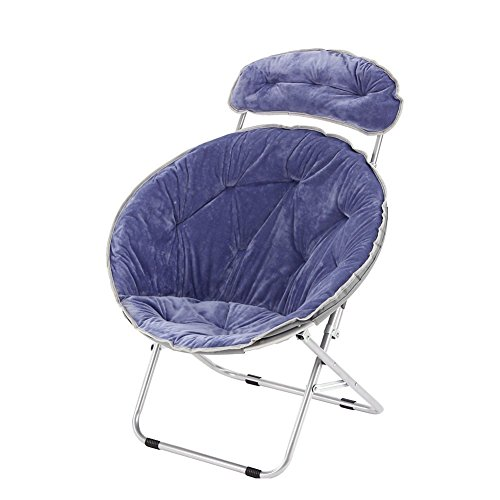 CampLand Deluxe Padded Folding Moon Saucer Chair with Removable Pillow