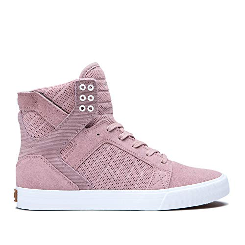 (Supra Footwear - Skytop High Top Skate Shoes, Mauve, 8 M US Women/6.5 M US Men )