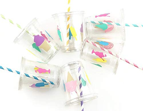 Birthday Party Disposable Plastic Straws product image