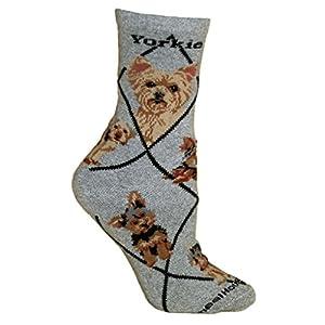 Wheel House Designs Yorkshire Terrier Puppy Women's Argyle Socks 8