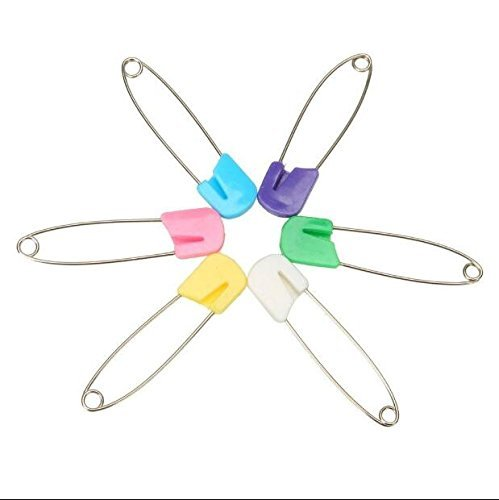 MTSZZF 20 Pack Baby Child Infant Kids Cloth Diaper Nappy Pins Safety Safe Hold Clip Locking Cloth Size L
