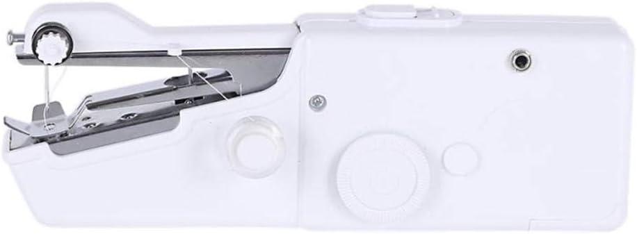 Máquina De Coser Mini Máquina De Coser Portátil A Mano Telas Para Ropa Costura Overlock Eléctrica-Blanco