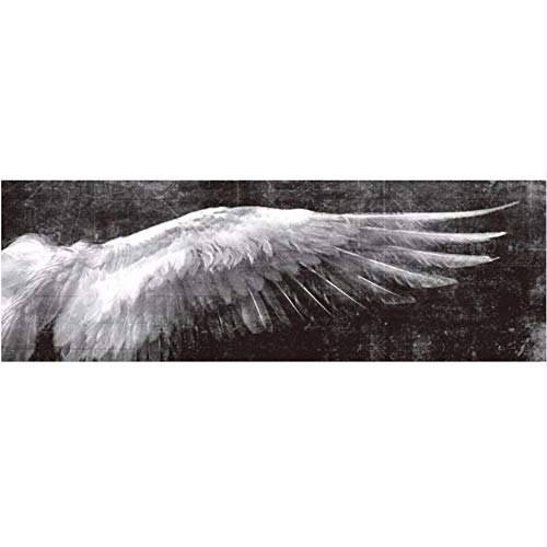 Wadyx Angel Wings Vintage Wall Posters and Prints Black and White Wall Art Canvas Painting Wings Pictures Living Room Home Decor No Frame 40X120Cm,B -