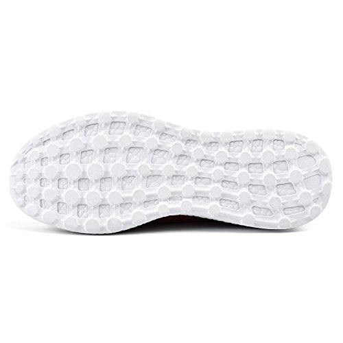 Walking Shoes Comfy Qansi Trainers Lightweight Athletic white Womens Sport Red OqqfwXx0