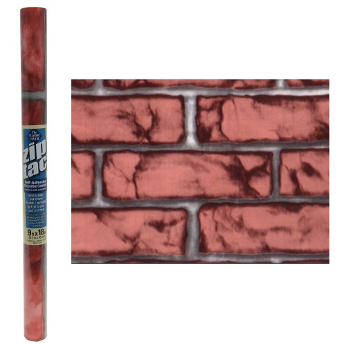 Zip Tac Brick Red Contact Paper (9 Ft X 18in) #241