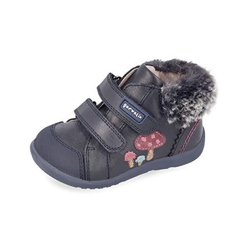 Botines para niña de Garvalín con Pelo - Azul Marino, 20: Amazon.es: Zapatos y complementos
