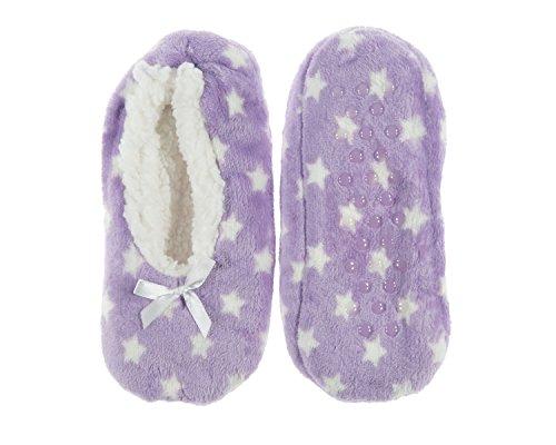 Calze Antiscivolo Per Donna Con Suola In Finta Pelliccia Infradito Purplestar