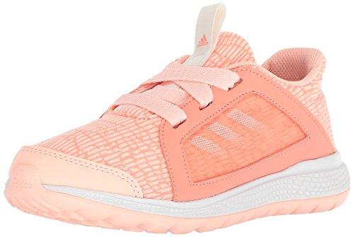 (adidas Unisex Edge lux Running Shoe, Coral/Chalk White/Clear Orange, 1 M US Little)