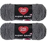 Bulk Buy: Red Heart Super Saver (2-pack) (Grey Heather)