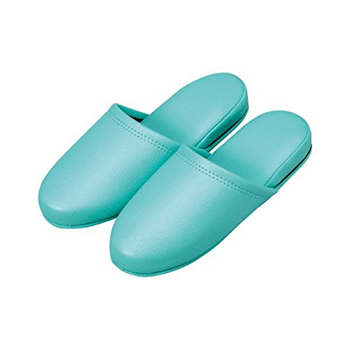 オーミケンシ 抗菌レザー調スリッパ 10足組 36055 グリーン 10足 ファッション 靴 シューズ ルームシューズ 14067381 [並行輸入品] B07L7QFSJ5