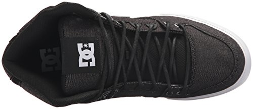 DC Men's Pure High-Top WC TX Le Skate Shoe, Black/White/White, 10.5 D US