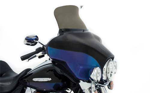 Shades 9 Memphis Windshield - Memphis Shades MEP8591 Smoke Windshield (Spoiler Replacement For Oem Fairings Shield Flh Spoiler 9