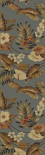 KAS Oriental Rugs Lifestyles Collection Tropical Runner, 2'3
