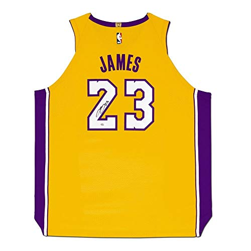 ff118e2f2 LeBron James Autographed Los Angeles Lakers Gold Authentic Nike Jersey UDA  RARE!