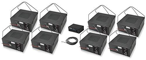 Atlas Sound M1000 8 Inch Sound Masking Speaker Bundle with Atlas Sound GPN1200K Masking Generator Kit and Installation Wire - Sound Masking System (10 Items) (Black)