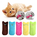 Legendog Cat Catnip Toys, 5PCS Cat Chewing Toys with Cute Cartoon Expression Cat Toys for Indoor Cats Plush Cat Toys