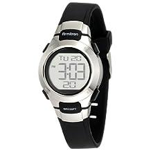 Armitron Women's 457012BLK Sport Chronograph Black Resin Stainless-Steel Accent Strap Watch