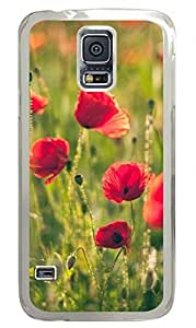 Poppy 2 Clear Hard Case Cover Skin For Samsung Galaxy S5 I9600